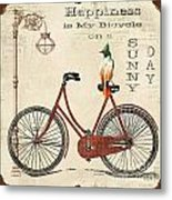 Happiness Is My Bicycle Metal Print