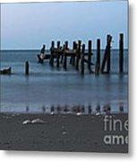 Happisburgh Beach Groynes Metal Print