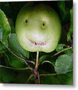 Happy Apple Metal Print