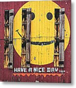 Happy Barn Metal Print