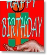 Happy Birthday 3 Metal Print