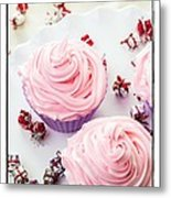 Happy Birthday Cupcakes Metal Print by Edward Fielding