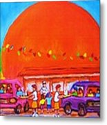 Happy Days At The Big  Orange Metal Print