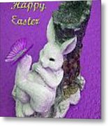 Happy Easter Card 4 Metal Print