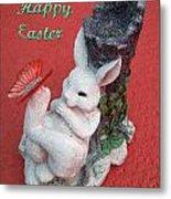 Happy Easter Card 5 Metal Print