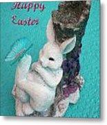 Happy Easter Card 6 Metal Print