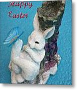 Happy Easter Card 7 Metal Print