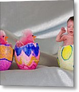 Happy Easter 3 Metal Print
