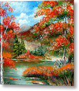 Happy Ever After Autumn  Metal Print