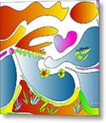 Happy Face Of Spring Metal Print
