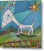 Happy Goat Metal Print