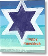 Happy Hanukkah Card Metal Print