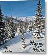 Happy Holidays - Winter Wonderland Metal Print