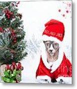 Xmas Holidays Greeting Card 108 Metal Print