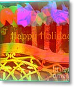 Happy Holidays - Christmas Packages - Holiday And Christmas Card Metal Print