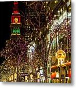 Happy Holidays Downtown Denver Co Metal Print