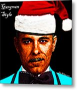 Happy Holidays Gangman Style - John Dillinger 13225 Metal Print by Wingsdomain Art and Photography