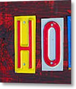 Happy Holidays License Plate Art Letter Sign Metal Print
