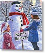 Happy Holidays Metal Print by Richard De Wolfe