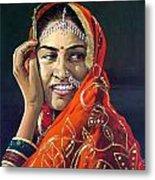 Happy Indian Women Metal Print