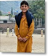 Happy Laughing Pathan Boy In Swat Valley Pakistan Metal Print