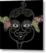Happy Licorice Girl Metal Print