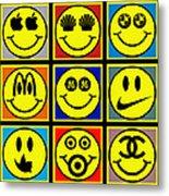 Happy Logos Metal Print