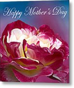Happy Mother's Day Red Pink White Rose Metal Print