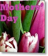 Happy Mothers' Day Tulip Bunch Metal Print