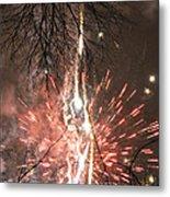 Happy New Year 2014 Three Metal Print