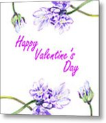 Happy Purple Valentine Metal Print