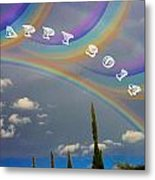 Happy Rainbows Metal Print