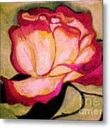 Happy Red Rose Metal Print