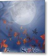 Happy Samhain Moon And Veil  Metal Print