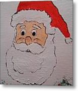 Happy Santa Claus Metal Print