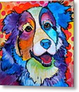 Happy Scout Metal Print by Debi Starr