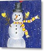 Happy Snow Metal Print
