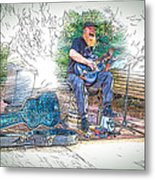 Happy The Busker Metal Print