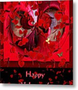 Happy Valentine's Day Card Metal Print
