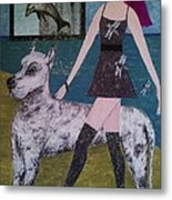 Happy Walk By Jasna Gopic Metal Print