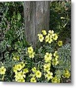Happy Yellow Flowers Metal Print