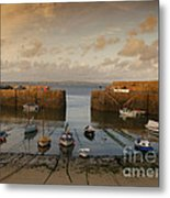 Harbor At Dusk Metal Print by Pixel Chimp
