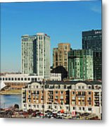 Harbor East Complex In Baltimore From Federal Hill Metal Print