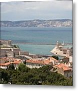 Harbor Entrance Marseille Metal Print