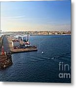 harbor in Porto Torres Metal Print