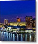 Harbor Island Nightlights Metal Print by Marvin Spates