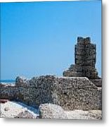 Harbor Island Ruins Metal Print