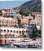 Harbor, Kalkan, Turkey Metal Print