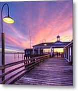 Harbor Lights Metal Print