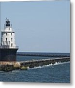 Harbor Of Refuge Lighthouse II Metal Print